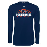 Under Armour Navy Long Sleeve Tech Tee-Roadrunners Basketball Half Ball