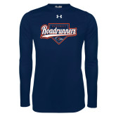Under Armour Navy Long Sleeve Tech Tee-Roadrunners Baseball Script w/ Plate