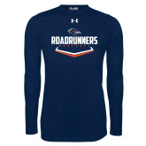 Under Armour Navy Long Sleeve Tech Tee-Roadrunners Baseball Plate