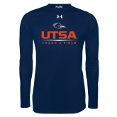 Under Armour Navy Long Sleeve Tech Tee-UTSA Track & Field