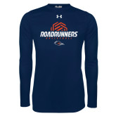 Under Armour Navy Long Sleeve Tech Tee-Roadrunners Volleyball Geometric Ball