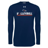 Under Armour Navy Long Sleeve Tech Tee-Volleyball Bar