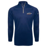 Under Armour Navy Tech 1/4 Zip Performance Shirt-UTSA Roadrunners w/ Head Flat