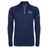 Under Armour Navy Tech 1/4 Zip Performance Shirt-Primary Logo