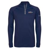 Under Armour Navy Tech 1/4 Zip Performance Shirt-UTSA Roadrunners w/ Head Flat
