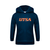 Youth Navy Fleece Hoodie-UTSA