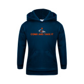 Youth Navy Fleece Hoodie-Come and Take It Flat