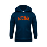 Youth Navy Fleece Hoodie-Arched UTSA Roadrunners