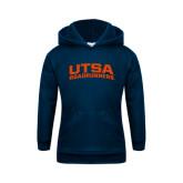 Youth Navy Fleece Hoodie-Arched UTSA Roadrunners