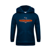 Youth Navy Fleece Hoodie-Roadrunners Football Underline