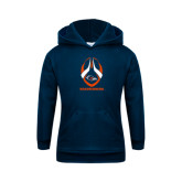 Youth Navy Fleece Hoodie-Roadrunners Football Vertical