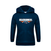 Youth Navy Fleece Hoodie-Roadrunners Football Horizontal