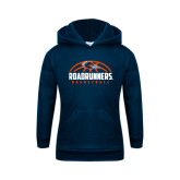 Youth Navy Fleece Hoodie-Roadrunners Basketball Half Ball