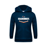 Youth Navy Fleece Hoodie-Roadrunners Baseball Plate