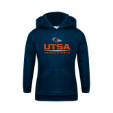 Youth Navy Fleece Hoodie-UTSA Track & Field
