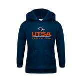 Youth Navy Fleece Hoodie-UTSA Track & Field