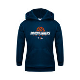 Youth Navy Fleece Hoodie-Roadrunners Volleyball Geometric Ball
