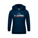 Youth Navy Fleece Hoodie-Volleyball Bar