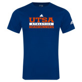 Adidas Navy Logo T Shirt-Adidas UTSA Roadrunners Athletics Logo