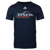 Adidas Navy Logo T Shirt-UTSA Roadrunners w/ Head Flat