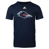 Adidas Navy Logo T Shirt-Roadrunner Head