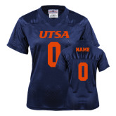 Ladies Navy Replica Football Jersey-Personalized