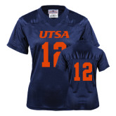 Ladies Navy Replica Football Jersey-#12