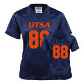 Ladies Navy Replica Football Jersey-#88