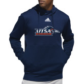 Adidas Navy Team Issue Hoodie-UTSA Roadrunners w/ Head Flat
