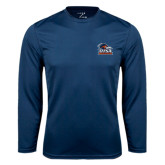 Syntrel Performance Navy Longsleeve Shirt-Primary Logo