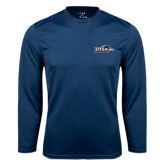Syntrel Performance Navy Longsleeve Shirt-UTSA Roadrunners w/ Head Flat