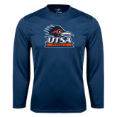 Performance Navy Longsleeve Shirt-Football