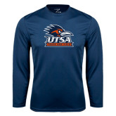 Performance Navy Longsleeve Shirt-Track & Field