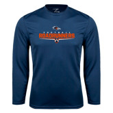 Performance Navy Longsleeve Shirt-Roadrunners Football Underline