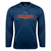 Syntrel Performance Navy Longsleeve Shirt-Roadrunners Football Underline