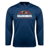 Syntrel Performance Navy Longsleeve Shirt-Roadrunners Basketball Half Ball