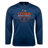 Syntrel Performance Navy Longsleeve Shirt-UTSA Basketball Half Ball