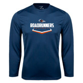 Performance Navy Longsleeve Shirt-Roadrunners Baseball Plate
