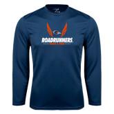 Syntrel Performance Navy Longsleeve Shirt-Roadrunners Track & Field Wings