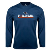 Performance Navy Longsleeve Shirt-Volleyball Bar