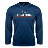 Syntrel Performance Navy Longsleeve Shirt-Volleyball Bar