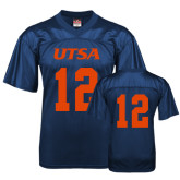 Replica Navy Adult Football Jersey-#12