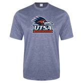 Performance Navy Heather Contender Tee-Primary Logo