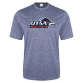 Performance Navy Heather Contender Tee-UTSA Roadrunners w/ Head Flat