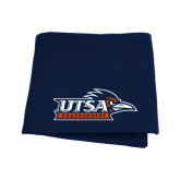 Navy Sweatshirt Blanket-UTSA Roadrunners w/ Head Flat