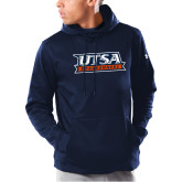 Under Armour Navy Armour Fleece Hoodie-UTSA Roadrunners Stacked