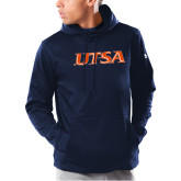 Under Armour Navy Armour Fleece Hoodie-UTSA