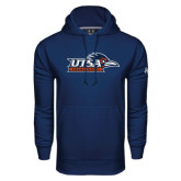 Under Armour Navy Performance Sweats Team Hood-UTSA Roadrunners w/ Head Flat