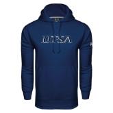 Under Armour Navy Performance Sweats Team Hood-UTSA