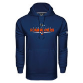 Under Armour Navy Performance Sweats Team Hood-Roadrunners Football Underline
